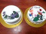 ציור על עוגה בסדנת ציור