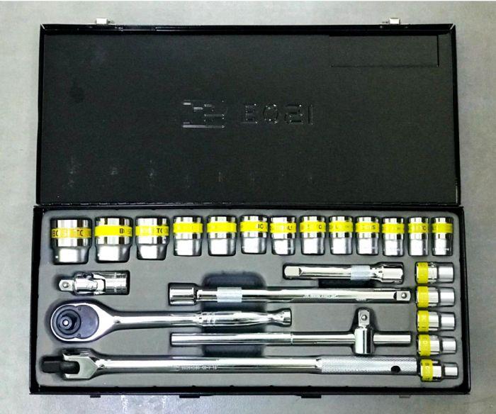 מזוודה משולבת מלבנית ביטים+ כלי עבודה 25 יחידות