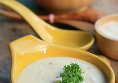 מרק קרם שעועית לבנה