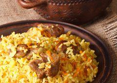 פילאף אורז עם בשר בקר (כתף)