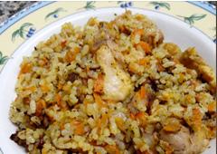מנת עוף, אורז וירקות
