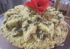 אורז עם תרד שום ולימון - אהובה והבה