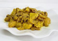 ארטישוק עם זיתים ופטריות