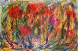 """צבעונים, אקריליק על דופלקס 70_100 ס""""מ"""