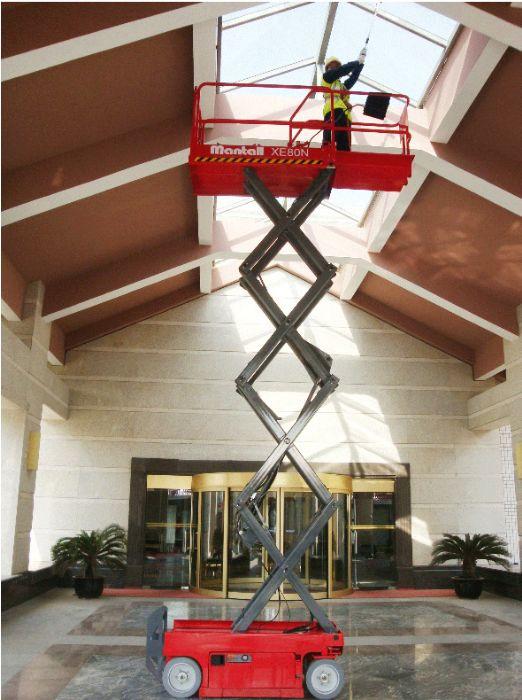 Electric scissors platform for indoor works - 8m Mantall XE80N