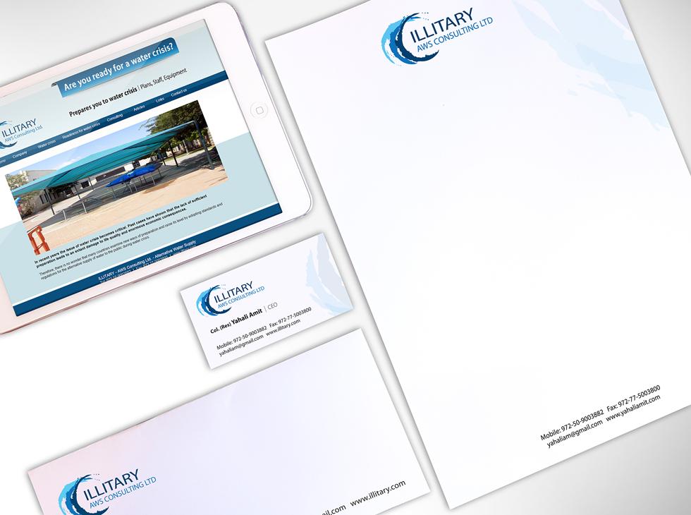 עיצוב לוגו ואתר לחברת ייעוץ לביטחון מים