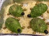 תחרות מאכלים מחופשים-צבים מאבוקדו