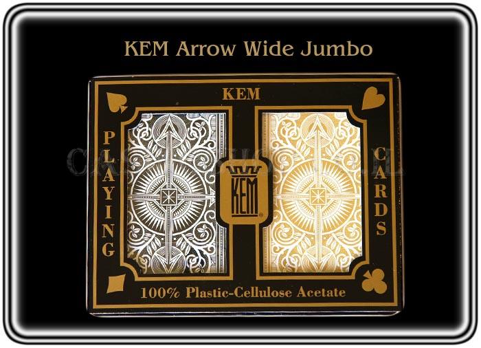 קלפים KEM פלסטיק שחור ג'מבו ARROW לפוקר 21