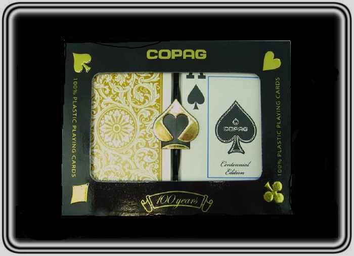 קלפים פלסטיק קופג זהב שחור