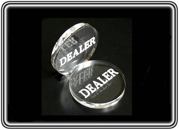 כפתור דילר DEALER שקוף לפוקר טקסס הולדם