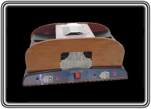 מערבב קלפים מעץ אוטומטי איכותי לפוקר טקסס הולדם
