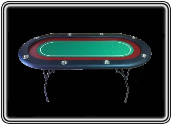 שולחן קלפים אליפסי איכותי 8 שחקנים