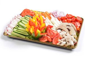מגוון ירקות חתוכים