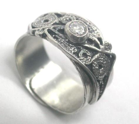 טבעתנ כסף פיליגרן