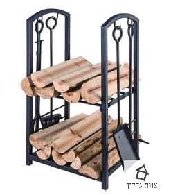 מתקן לאחסון בולי עץ לוגים לקמין- צוות גדרון