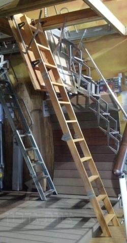 סולם עץ לעליית גג - צוות גדרון