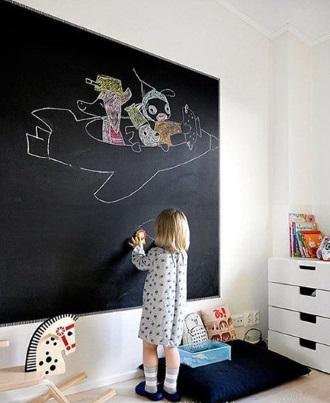 צבע לוח גיר בחדר ילדים RUST OLEUM - צוות גדרון