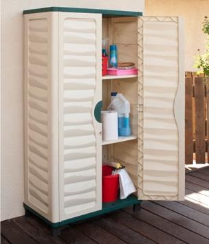 ארון שירות 2 מדפים עשוי פלסטיק - צוות-גדרון