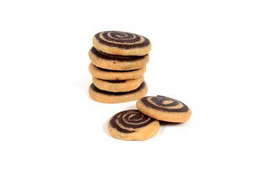 עוגיות זברה בשני צבעים