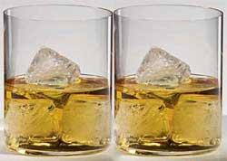 """זוג כוסות רידל  """"O"""" וויסקי"""