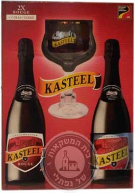 בירה קסטיל רוז' מארז עם כוס