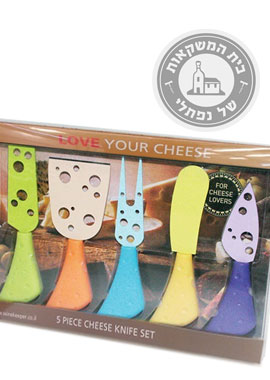 סט סכיני גבינה צבעוני
