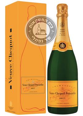 שמפניה וו קליקו תוית צהובה ברוט