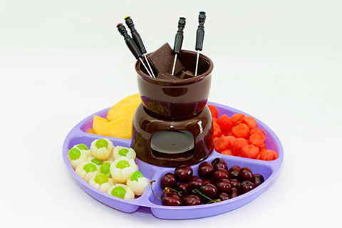 פונדו פירות ושוקולד L