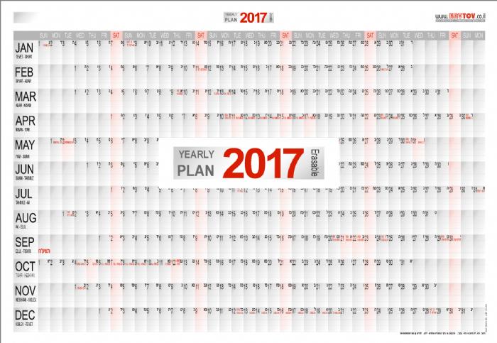 תכנון שנת 2017 באנגלית