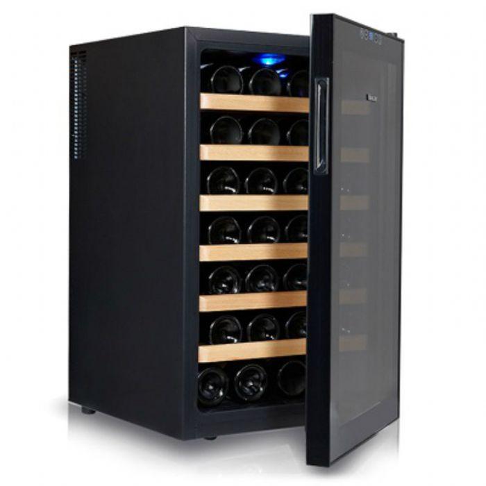תמונה של מקרר יין 28 בק' Galaxy עם מדפי עץ