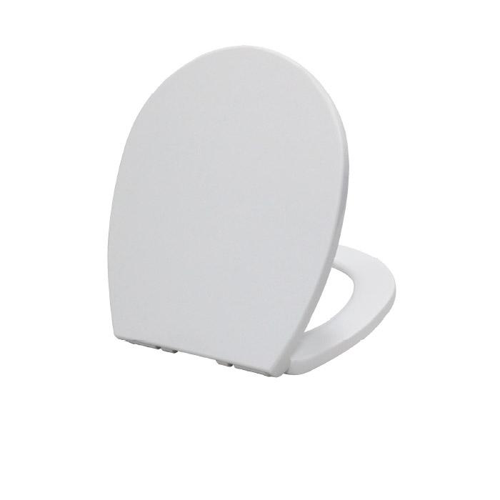מושב טלסקופי (סגירה איטית) צבע לבן/ פרגמון דגם 1078