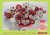 עציץ אהבה באדום ולבן