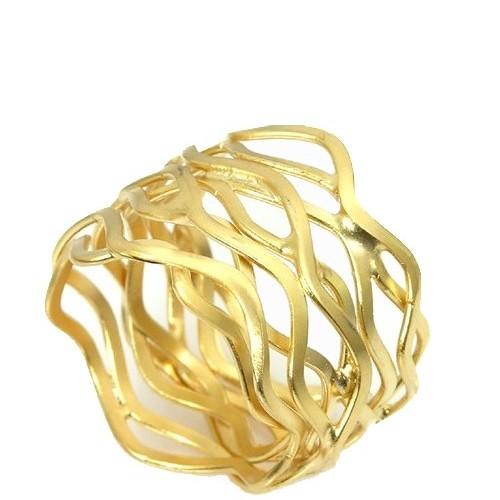 טבעת אאורה גלים זהב