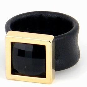 טבעת קוקטייל מרובעת זהב הגר סתת