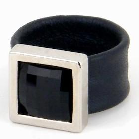 טבעת קוקטייל מרובעת כסף הגר סתת