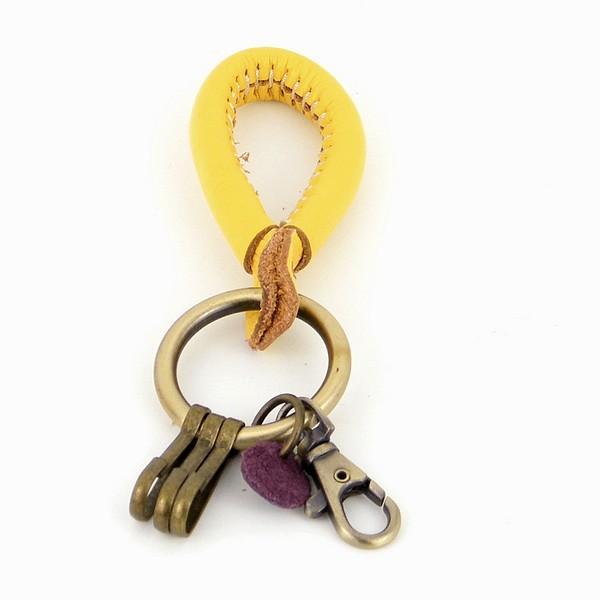 מחזיק מפתחות עמנואל פורשה עור צהוב