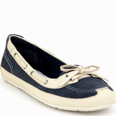 נעלי נשים -  נעלי מוקסין טימברלנד כחול