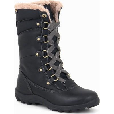 נעלי נשים טימברלנד מגפיים עור פרווה שרוכים שחור