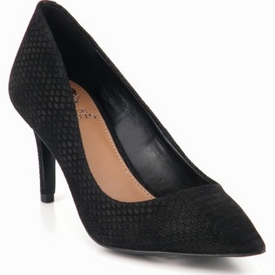 נעלי נשים עקב וינס קמוטו קסינה נחש שחור