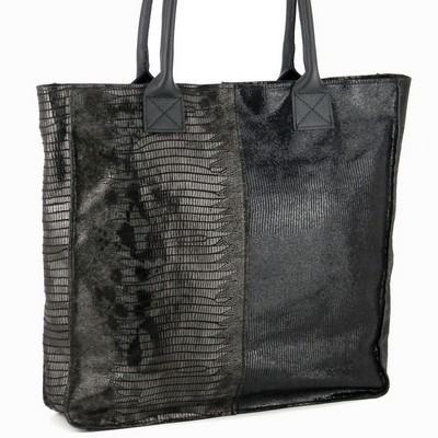 תיק עור מעוצב ג'יאני רוסי סל שחור
