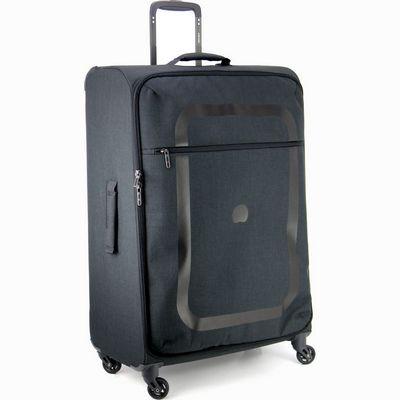 מזוודה קלה גדולה דלסי 77 דופין שחור