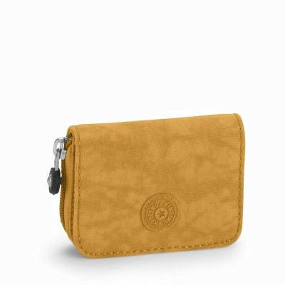 ארנק נשים קטן במיוחד גודל כרטיס אשראי קיפלינג טופס חום מוזהב