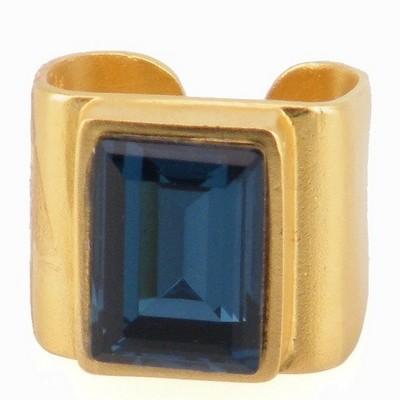 טבעת קיסר זהב אבן קריסטל הגר סתת
