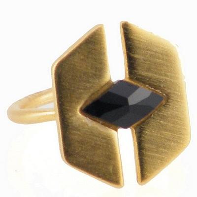 טבעת פרפר אבן שחורה הגר סתת