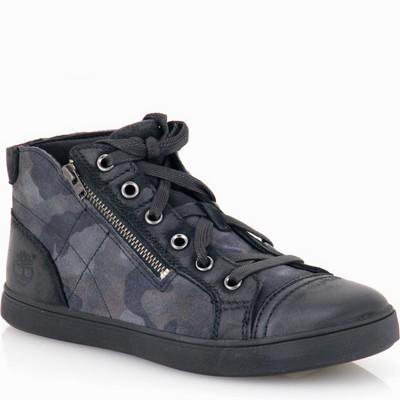 נעל נשים טימברלנד מעור שחור הסוואה בגווני אפור