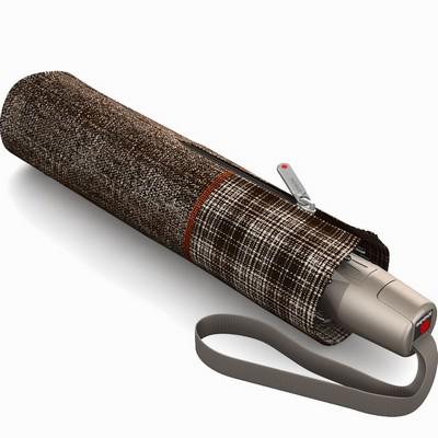 מטריות - קנירפס מטרייה קומפקטית פתיחה וסגירה אוטומטית חום אפור סקוטי יוניק