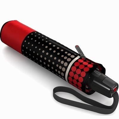 מטריות - קניפרס מטרייה קומפקטית פתיחה וסגירה אוטומטית נקודות אדום