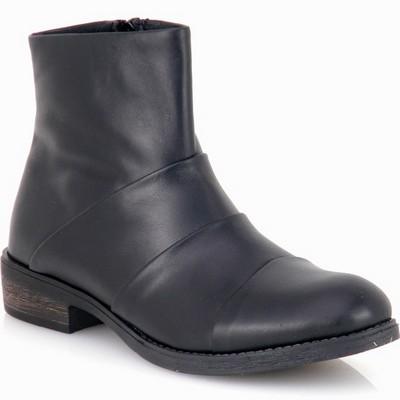 נעלי נשים מגפון פולד עור גויה שחור