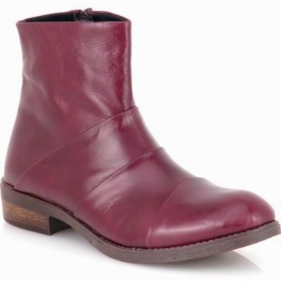 נעלי נשים מגפון פולד עור גויה אדום פורט