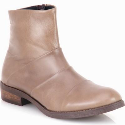 נעלי נשים מגפון פולד עור גויה אפור חום